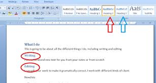 My Short Cuts Headings Part 1 Libroediting Proofreading