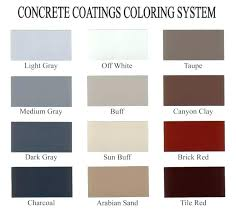 Quikrete Concrete Stain Colors Chart Concrete Review Theindigoexperience Co