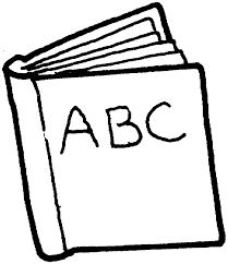 textbooks black and white clipart