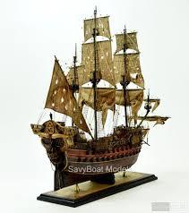 jolly roger pirate ship wood model jolly
