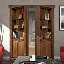 flush mount french style bookcase door