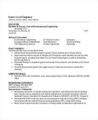 Entry Level Civil Engineering Resume Samples Engineers Spacesheep Co