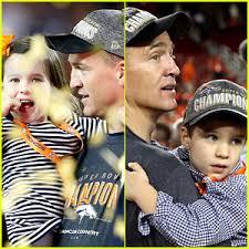 peyton manning kids. Peyton Mannings\u0027 Kids Join Him On Super Bowl 2016 Field! Manning 0
