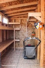 build storage shelves for a shed or garage