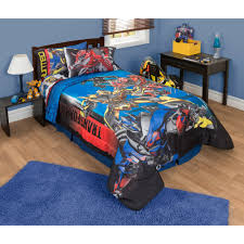 transformers sheet transformers 4 battle royale twin full reversible comforter blue