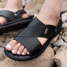 2019 <b>Men's Summer</b> Casual <b>Beach Shoes</b> Cow Leather Outdoors ...