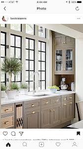 Kitchen Windows Muted Colors With Black Windows Kitchen Design Love Pinterest