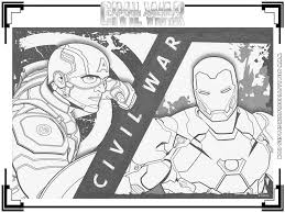 Small Picture Captain AmericaCivil War Printable Coloring Pages Realistic