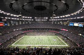 New Orleans Saints Superdome Seating Chart Mercedes Benz Superdome New Orleans Saints Football Stadium