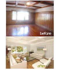 painted wood paneling before after for the sweet wood room in the house