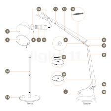 artemide spare parts lights lamps