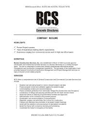 Company Resume - Resume Example