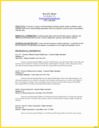Flight Attendant Resume Sample With No Experience New Entry Level