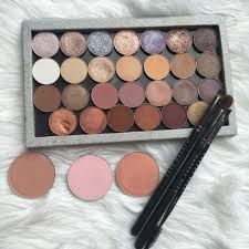 i have a large z palette filled with their eyeshadows both foiled and regular formulas as well as some of their blushes and their brushes