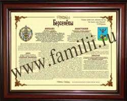 Происхождение фамилии со скидкой Диплом о происхождении фамилии