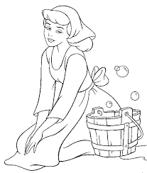 Free Disney Cinderella Coloring Pages For Kids Cartoon Coloring