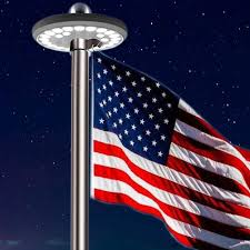 Flag Lights Pole Meihong Solar Powered Flag Pole Light Automatic Flagpole Light Led Downlight Lights Up Flag On Most 15 To 25 Ft Flagpole For Night Lighting
