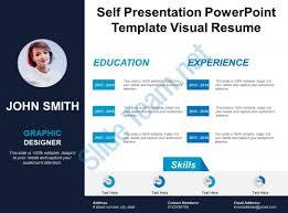 Self Presentation Powerpoint Template Visual Resume Powerpoint