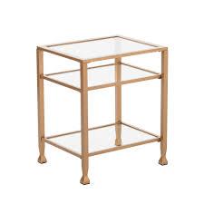Ballard Designs Kendall Side Table Jamel Metal Glass End Table Gold Aiden Lane Jamel Metal