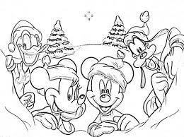 Small Picture Coloring Pages Mickey Mouse Christmas Coloring Page Free