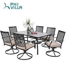 phi villa outdoor patio dining set of 7