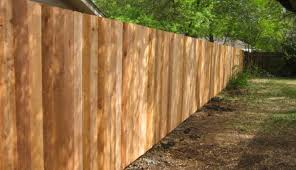 wood privacy fences. Front Side Of Wood Cedar Privacy Fence Fences