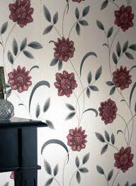 Decorations:Creative Floral Wall Designs For Bedrooms Idea Antique Modest  Cool Wallpaper Flower Patterns Gallery