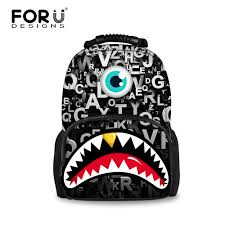 Designer Boys Backpack Us 27 74 25 Off Cool Teenager Boys Backpack Designer Big Mouth Backpack For Men Big Size Children Student School Backpacks High Quality Mochila In