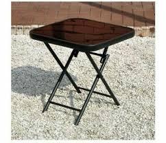 black coffee side table glass folding