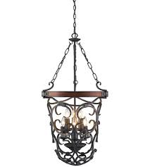 golden lighting 1821 6p bi madera 6 light 20 inch black iron pendant ceiling light 2 tier