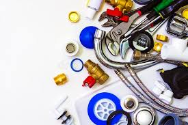 sanitary works tools and materials for sanitary works stock image image of part