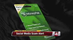 moneybak netspend reload packs paypal my cash card reload it card social media scam alert green dot money pak