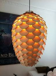 plywood lighting. pinecone lamp produced at republikken cph the prototype is laser cut birch plywood consists of 273 parts and some light fixture stuff lighting