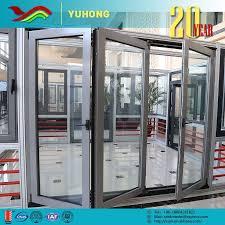 aluminum glass aluminium ykk folding door accordion doors ykk front colors budget doors