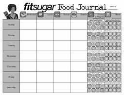 Food Journal Templates Hcg Diet Tracking Sheets Elegant Best S Of Food Diary Template 13