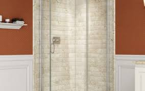 wall door shower stall menards for corner best bathrooms head small outdoor bathroom sterling winsome