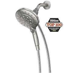 moen handheld spot resist brushed nickel shower head with magnetix 2 gpm 6 spray