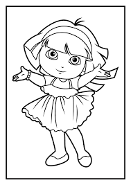 Coloring Pages Dora The Explorer Coloring Pages To Print Printable