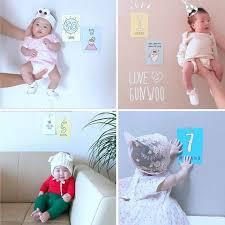 <b>12 Pcs</b>/<b>Set Month</b> Card <b>Baby</b> Monthly <b>Newborn</b> Photos Funny ...