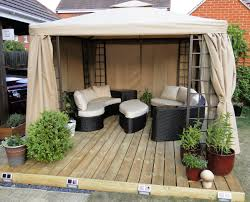 Patio Ideas Deck Kits With Wooden Furniture And Black Inspirations