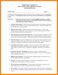 Gallery Of Resumes For Scholarships