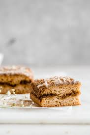 For a more pronounced almond flavor, use almond extract instead of vanilla or half of each. Incredible Paleo Almond Flour Coffee Cake Paleo Gf The Fit Peach