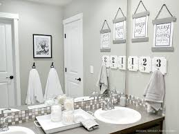 bathroom decor. Simple Bathroom Gray And White Bathroom Decor And N