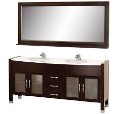 wyndham collection daytona 71 inch double bathroom vanity in espresso green glass countertop green integral sinks and 70 inch mirror com