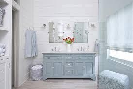 Light wood tile flooring Granite Powder Room Dual Washstand With Light Gray Porcelain Tile Wood Like Floor Decorpad Powder Room Dual Washstand With Light Gray Porcelain Tile Wood Like