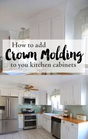 Adding Crown Molding To Your Kitchen Cabinets Diy Party Crown