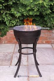 cast iron fire bowl with bbq grill iron fire pit48