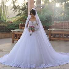 western wedding dresses. Lace White Wedding Dress Ball Gown Appliques Tulle Country Western
