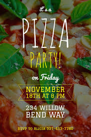 Pizza Party Invitation Templates Make Your Own Party Invitations For Free Adobe Spark