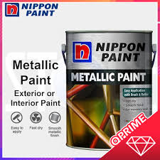 Nippon Paintnippon Metallic Paint Gold Silver Purple Paint 1 Litre For Wall Wood And Metal Surface